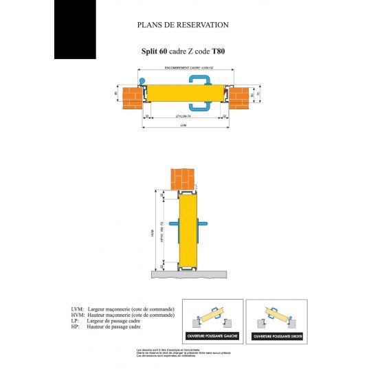 Porte Métallique Industrielle Double Coupe Feu 1H L800+800xH2050
