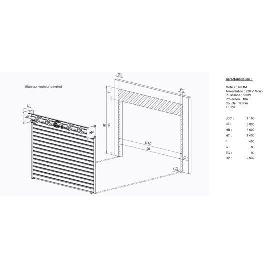 Rideau transparent L3mxH3m