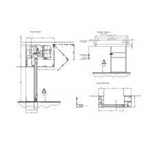 Porte coulissante Automatique 1 VANTAIL L1000xH2050