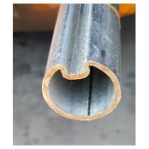 Arbre creux Diam 40 mm Hormann avec rainure  longueur 3.80 m