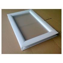 Hublot 511 x 321 mm blanc 1 vitre sablée IMEPSA