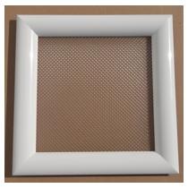 Hublot PVC carré 300 x 300 -  2 faces blanches - 1 vitre diamant IMEPSA