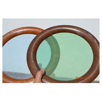 Hublot rond PVC 315 mm - Chêne foncé - 2 vitres transparentes IMEPSA