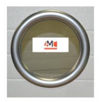 Hublot rond PVC 315 mm - 1 face alu - 2 vitres transparentes IMEPSA