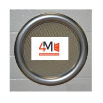 Hublot Rond gris ALU ext - 315 mm 1 vitre transparente + 1 vitre aléatoire IMEPSA