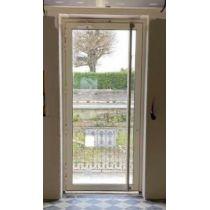 Porte Aluminium vitrée 3 points isolée RAL 7016 L800xH2050