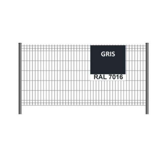 Panneau clôture grillage rigide H1,73m RAL 7016