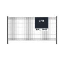 Panneau clôture grillage rigide H1,93m RAL 7016
