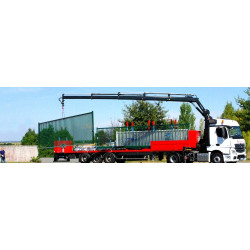 Déchargement camion grue