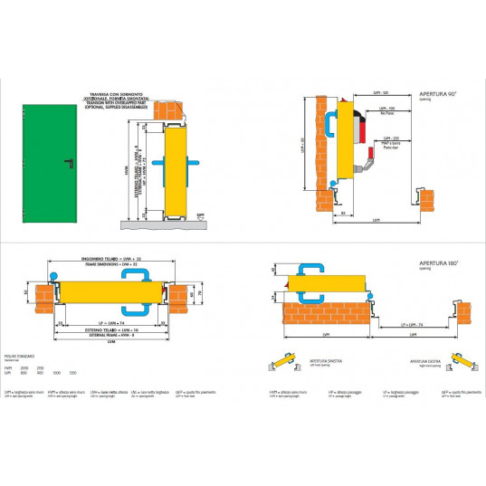 Porte m?tallique industrielle de service L1000xH2050