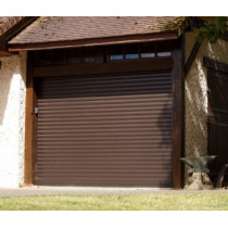 porte de garage enroulable L2900xH2000 ch?ne fonc?