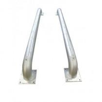 Guide roue galvanis? L2800 diam140mm la paire