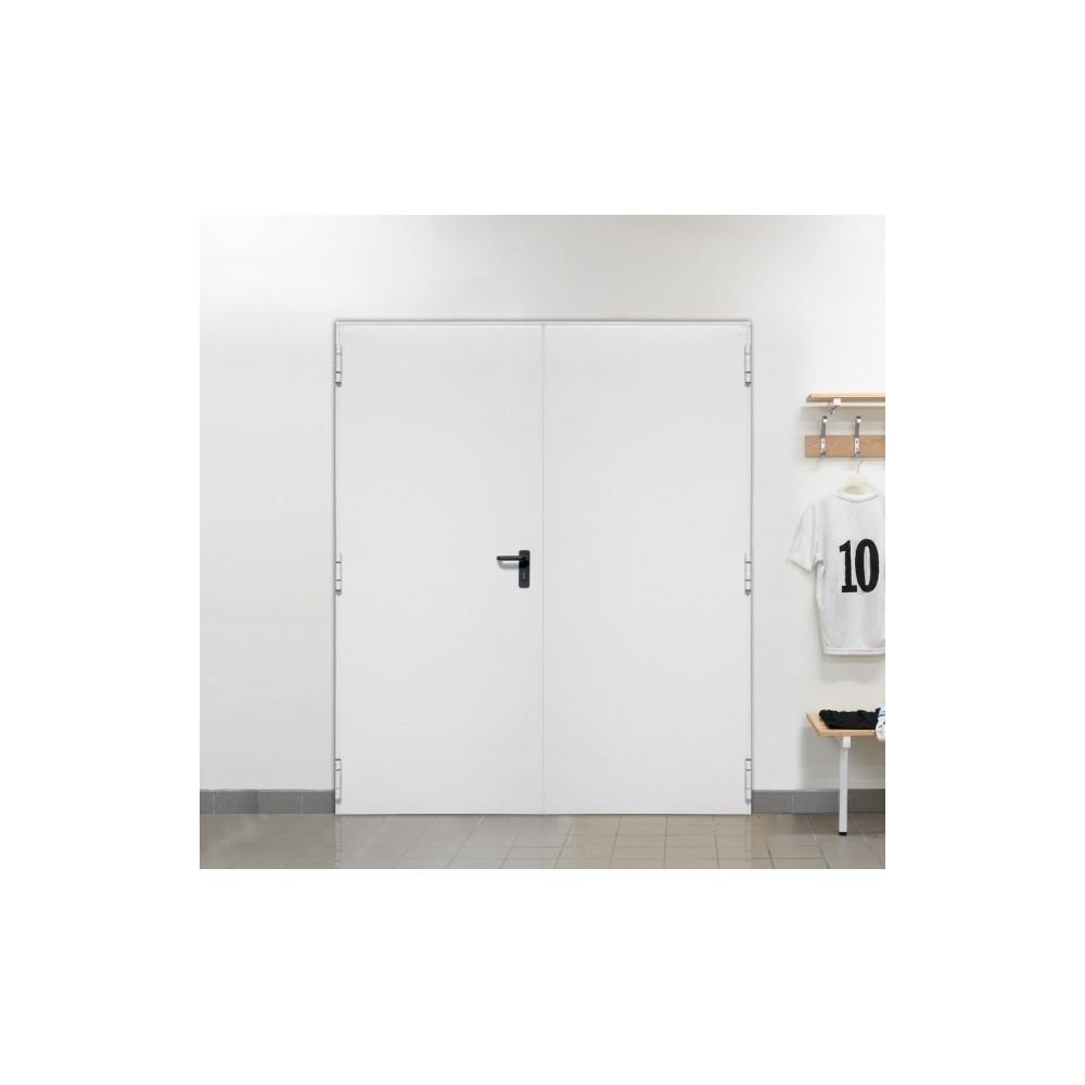 Porte m tallique industrielle double de service l900 400xh2150 Porte de garage 4m
